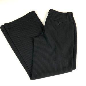 Express Editor Black & White Pinstripe Pants 10